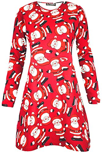 Oops Outlet - Robe - Femme Waving Santa Red