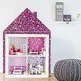 Limmaland Wandtattoo Puppenhaus passend für Dein IKEA KALLAX Regal (Farbe Orchidee) - Möbel Nicht inklusive