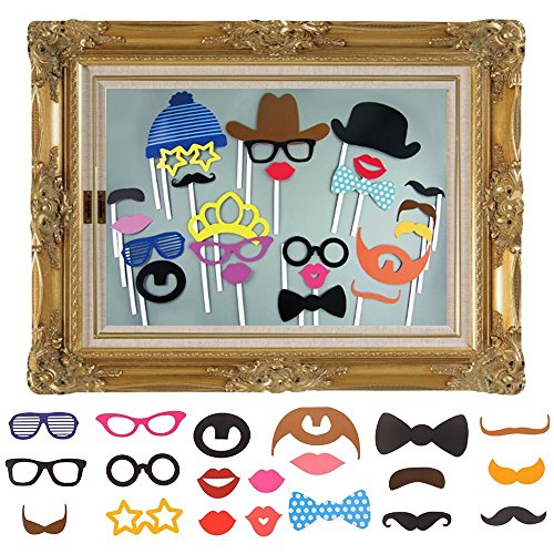 Imagen de jzk® 25 x photo booth photocall photo booth con accesorios decoracion con un marco para boda baby shower cumpleaños navidad halloween año nuevo y otro diferentes ocasiones