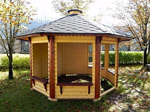 Galleria fotografica Gazebo in legno da giardino da 9,9mq