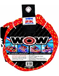 WOW World of Watersports, 11-3000, Tow Rope, 60 Feet, 2375 Pounds Break Strength, Floating Foam Buoys by WOW Sports