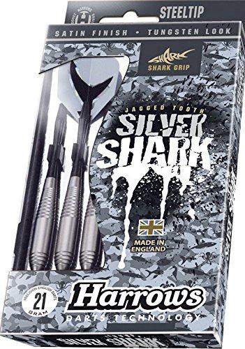 Jeu de fléchettes HARROWS bord rasoir argent Shark Zinc cuivre 22g