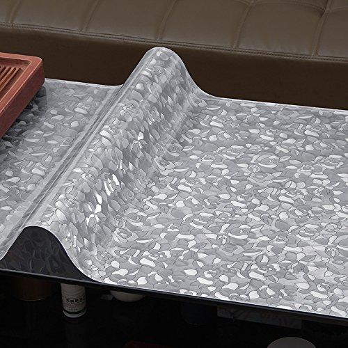 MH-RITA Soft Glas Tuch Wasserdicht transparenten Kunststoff Tischdecke C 80 * 140 cm (Klar Schneeflocke Kunststoff Tischdecke)