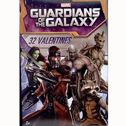 Paper Magic 32CT Showcase Guardians of the Galaxy Kids Classroom Valentine Exchange Cards by Paper Magic