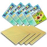 Brickyard Building Blocks Grundplatten für Bausteine (4er-Paket Sandfarbene)