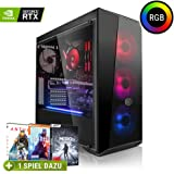 Megaport High End Gaming PC AMD Ryzen 7 2700X 8 x 4.30 Turbo • Nvidia GeForce RTX 2060 6GB • 480GB SSD • 16GB DDR4 • Windows 10 • WLAN Gamer pc Computer Gaming Computer
