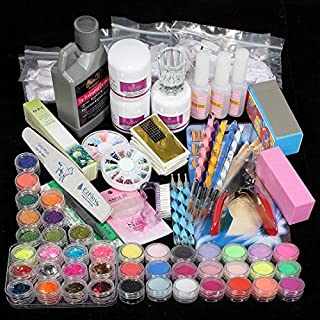 ANKKO Professional DIY Acrylic Liquid Powder Brush Glitter Nail Art Creative Kit Set