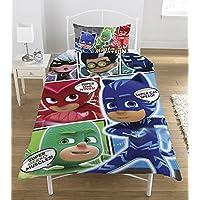 PJ MASKS Comic Duvet Set, Polyester-Cotton, Multi-Colour, Single