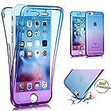 Etsue Coque iPhone SE,Coque iPhone 5S Siliocone Gel 360 Degres Protection Integral...