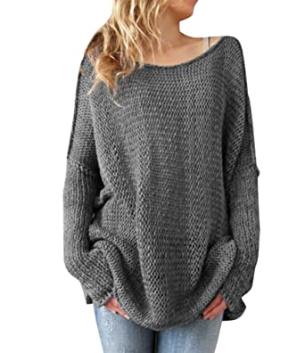 Womens Long Knitted Jumpers For Women Ladies Sweater Knitwear ...