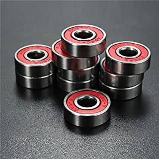 EsportsMJJ Roulement À Billes 10Pcs ABEC-7 Red Sealed Deep Groove Skate Ball Bearing 608Rs 9X22X6mm Roulement À Billes