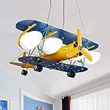 LED Enfants Lustre Avion Suspension Chambre Creative décoratifs Garçons et Filles Chambre Hanging lumière Store Cafe Cartoon