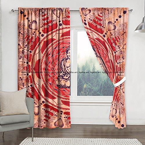ga Mandala Druck Küche Fenster Vorhang & Volant Set Wohnheim Tapisserie, indischer Drape, Balkon Room Decor Gardine Boho Set Hippie Vorhang Paneel (mehr) ()