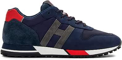 Hogan Sneaker Uomo H383 Blu e Rossa in Nabuk e Tela - HXM3830AN51 PGI617S - Taglia