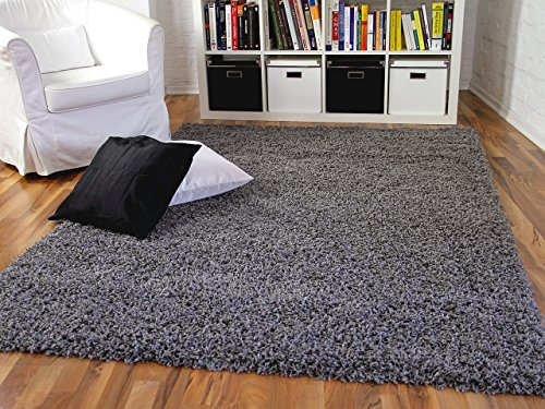Aloha - tappeto shaggy a pelo lungo - antracite - 6 dimensioni