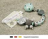 Baby SCHNULLERKETTE mit NAMEN | Schnullerhalter...