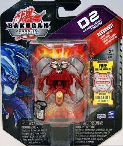 Bakugan - Gundalian Invaders - Bakuboost - D2 Bakudouble-Strike Phosphos (Red)