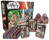 Star Wars - Force Attax - Erwachen der Macht - SUPER ANGEBOT - Adventskalender 2016 + 5 Tin Boxen + 19 Booster