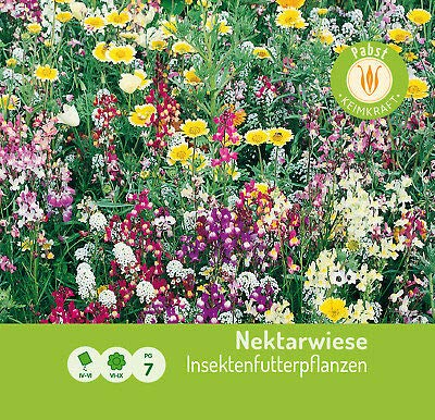 Qulista Samenhaus- 50pcs Wildblumenwiese Mischungen 10m² für Bienen Schmettling Insekten Blumensamen mehrjährig (Aktion Wildblumen 2019: blühende und summende Steiermark) (A)