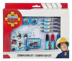 Undercover FSTU3971 - Sello con diseño de Sam el Bombero (26 Piezas, Incluye Sellos, Almohadilla para Sellos, rotuladores, pósteres y tizas)