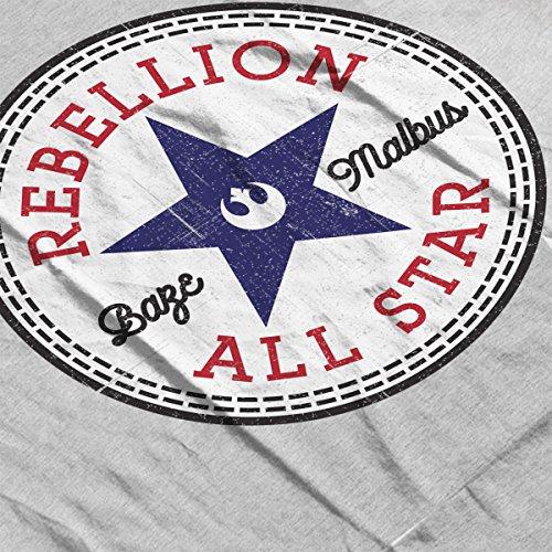 Star Wars Rogue One Rebellion Baze Converse Logo Men's Vest Heather Grey