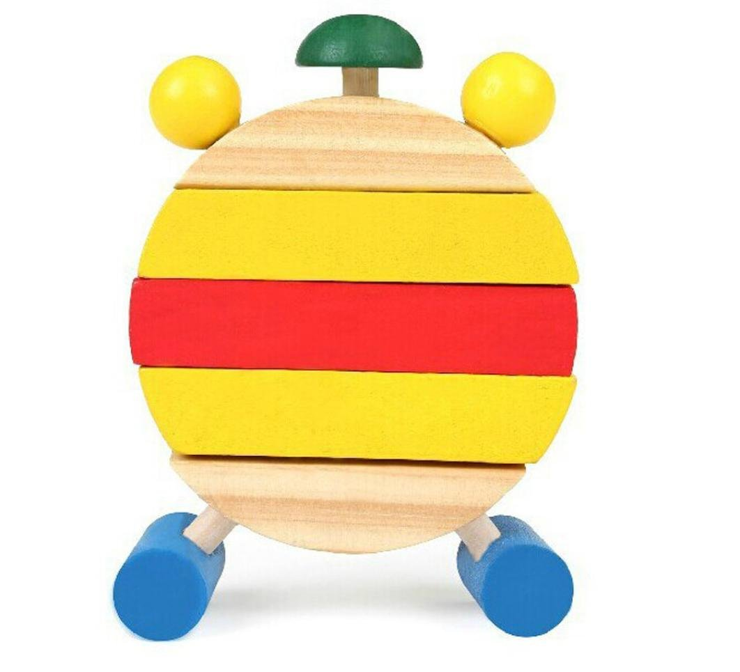 OSYARD Hand Made Wooden Clock Toys for Kids Learn Time Clock Educational Toys