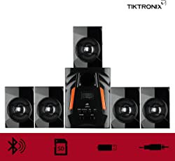 Tiktronix 5.1 Multimedia Home Theater Speaker System with USB , Aux , Bluetooth , FM , SD Memory Card & Remote Control Connectivity (TT-303)