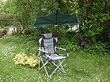 Der stabielo poggiatesta imbottito sedia pieghevole da viaggio con scomparti-parasole verde scuro-Holly Sunny® Spiaggia-Campeggio di svago Set-alta protezione dai raggi UV-Vendite-Holly di Sunshade® -