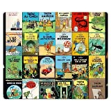 26x21cm 10x8inch Gaming Mouse Pads accurate cloth antiskid rubber Quality low-friction The Adventures of Tintin...