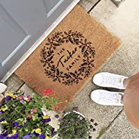 Christmas Gift for Family - Personalised Christmas Wreath Doormat
