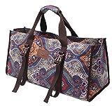 #DoYourYoga Yogatasche »Mahavir hochwertigem Baumwoll-Canvas (Segeltuch), aufwendig verarbeitet, für ÜBERBREITE Yogamatten bis zu einer Größe von 100 x 200 x 1,6 cm/Blaues Muster