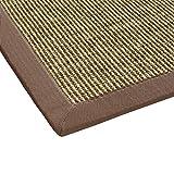 Sisal-Teppich modern hochwertige Bordüre Flachgewebe braun beige natur, verschiedene Größen, Variante: 200 x 290 cm