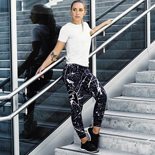 [Womens Leggings] Sky imprimé Yoga Skinny Workout Gym Leggings Fitness Sports Pantacourts Marine