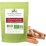 Plantes & Epices - Bâtons de Cannelle Entier Qualité BIO 6 à 8 cm - Sachet Fraîcheur Biodégradable Refermable (50g)