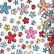 Selbstklebende Acryl-Schmucksteine - Blumen - Sticker zum Basteln für Kinder ideal für Karneval und Fasching - 180 Stück