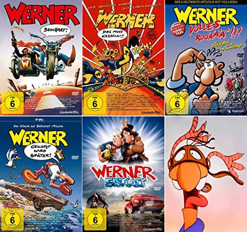 Werner - Set aus 5 Filmen / Beinhart / Das muss kesseln!!! / Volles Rooäää!!! / Gekotzt wird später / Eiskalt [5 DVDs]