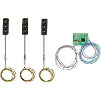 Magideal 3pcs 50mm Model 3-Light Metal Traffic Signal Lights 5-6V LED