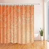 GWELL Boho Mandala Duschvorhang Wasserdicht Anti-Schimmel inkl. 12 Duschvorhangringe Badvorhang für Badezimmer Muster-B 180x210cm