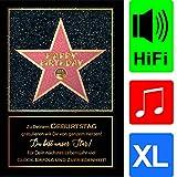 bentino Geburtstagskarte XL mit Musik, DIN A4 Set mit Umschlag, hochwertige Grußkarte spielt