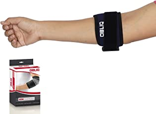 OBLIQ Tennis Elbow Support Adjustable Double Lock One Size Fits All - 1 Piece