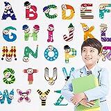 Jessie& Letty Decoration de Salle Stickers muraux repositionnables pour Enfants Motif abécédaire Animaux