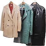 40 plastique transparent Vêtements couvercle anti-poussière suspendu sac de rangement de vêtements de poche