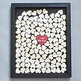 tianxiangjjeu Créatif Mini Coeur Puce de Bois Message Mince Romantique Mariage...