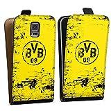 DeinDesign Samsung Galaxy S5 Neo Tasche Hülle Flip Case Borussia Dortmund BVB Fanartikel
