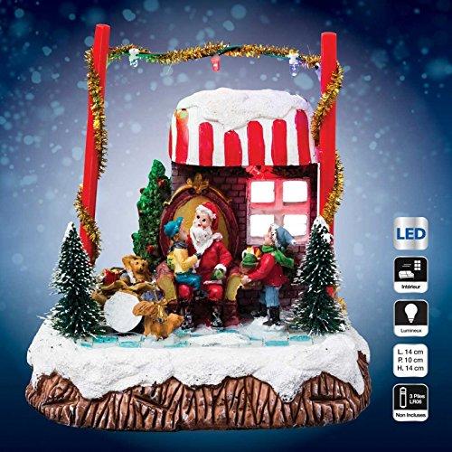 Village de Noël lumineux Stand du Père Noël