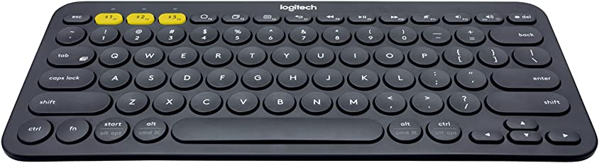 Logitech K380 Tastiera Multidispositivo, Bluetooth per Windows/mac/chrome/android, Layout Italiano, Grigio Scuro