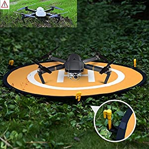 "YINGJEE Drone Landing Pad 30""/75cm Waterproof Portable Foldable Helipad Helicopter Landig Mat for DJI Phantom 3 4, Mavic Pro, Spark, DJI Mavic Air, Inspire and other Quadcopters"