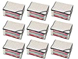 #7: Kuber Industries™ Non Woven Polka Dots Designer Saree Cover Set of 9 Pcs (Ivory)