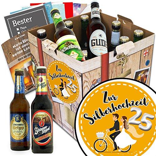 Zur Silberhochzeit   Deutsche Biere   Geschenkbox Bier