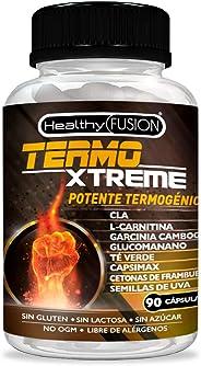 TermoXtreme | Termogénico con acción quemagrasas | Garcinia cambogia + l-carnitina + CLA + glucomanano + té verde | Estimula